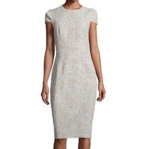 Michael Kors Italy Linen Cap Sleeve Sheath Dress
